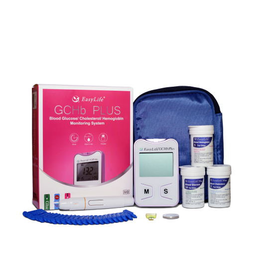 EASY LIFE GCHb PLUS - Апарат за измерване стойностите на кръвна захар, холестерол и хемоглобин
