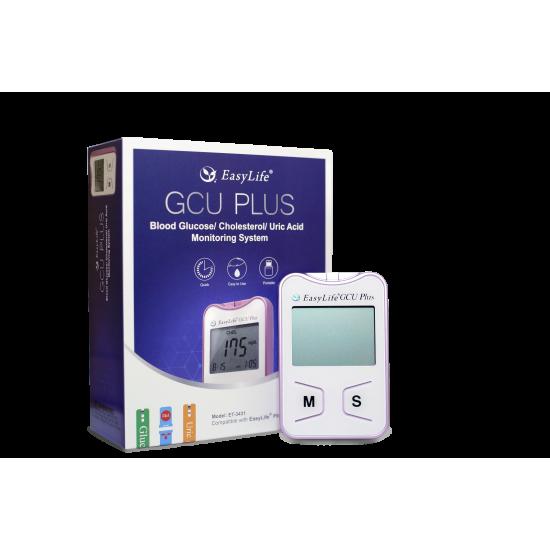 EASY LIFE GCU PLUS - Апарат за измерване стойностите на кръвна захар, холестерол и пикочна киселина