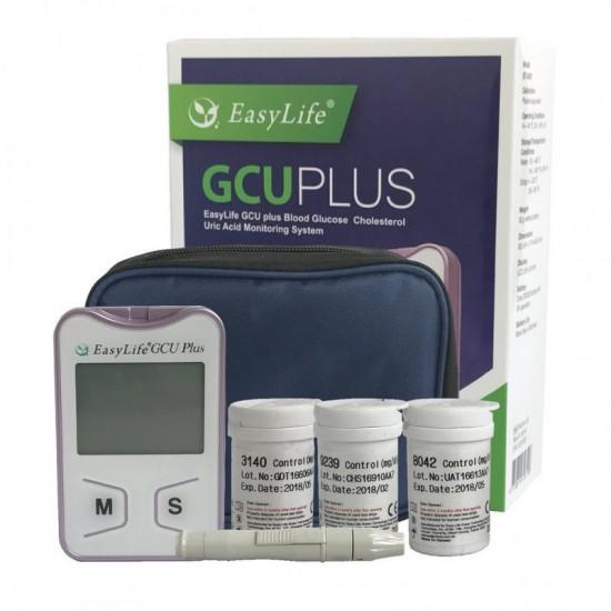 ПРОМО ПАКЕТ EASY LIFE GCU PLUS - Апарат за измерване стойностите на кръвна захар, холестерол и пикочна киселина